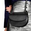 CHARLES & KEITH Half Moon Crossbody Bag Saddle