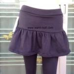 เลคกิ้งกางเกง+กป บุผ้าวุูลผสมเฟอร์