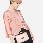 CHARLES & KEITH BOXY PUSH LOCK HANDBAG *ชมพู