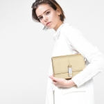 Charles & Keith Metal Clasp Clutch *สีทอง
