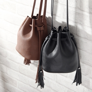 H&M mini bucket bag *น้ำตาล