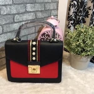 ALDO WHIPSTER BAG กระเป๋าหนัง PU ผ้ากริตเตอร์ปักมุก *สีดำ