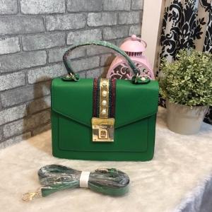 ALDO WHIPSTER BAG กระเป๋าหนัง PU ผ้ากริตเตอร์ปักมุก *สีเขียว