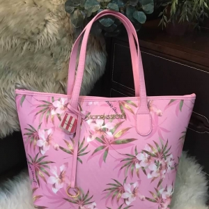 Victoria's Secret Vintage Flower Print Shoulder Tote Bag