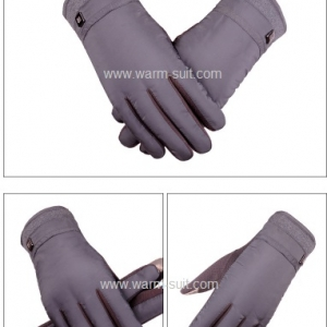 ถุงมือสปอร์ตผู้ชายสีเทา บุวูล ทัชสกรีนได้