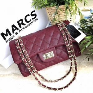 MARCS WOMAN QUILTED CHAIN SHOULD BAG *สีแดง