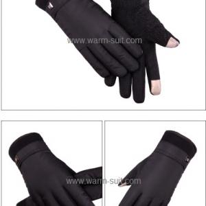 ถุงมือสปอร์ตชายสีดำ บุวูล ทัชสกรีนได้