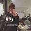 เสื้อฮู้ดแขนยาว ใส่กันหนาว ทรงสวม ลาย USA สีดำ thumbnail 5