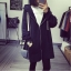 เสื้อคลุมแฟชั่นเกาหลี มีฮู้ด ซิปหน้า สีดำ thumbnail 1