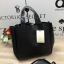 ZARA SOFT DOUBLE SIDED MINI TOTE BAG *ดำ thumbnail 2