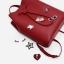 CHARLES & KEITH DRAWSTRING SHOULDER BAG-สีแดง thumbnail 3