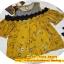 เสื้อแฟชั่นเว้าไหล่สไตล์เกาหลี ซีทรูช่วงอก แต่งลูกไม้ สีเหลืองลายดอกไม้ thumbnail 8