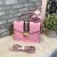 ALDO WHIPSTER BAG กระเป๋าหนัง PU ผ้ากริตเตอร์ปักมุก *สีชมพู thumbnail 1