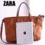 Zara trf leather tote bag *น้ำตาล thumbnail 5