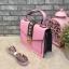 ALDO WHIPSTER BAG กระเป๋าหนัง PU ผ้ากริตเตอร์ปักมุก *สีชมพู thumbnail 3