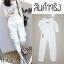 เซ็ตเสื้อแขนยาว+กางเกงขายาว-สีขาว thumbnail 2