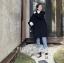 สีดำ-OverCoat เสื้อโค้ทกันหนาว ทรงหลวม ผ้าเนื้อดี บุซับในกันลม thumbnail 4