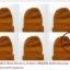 หมวกไหมพรมพระกันหนาว สีราช แบบหนา thumbnail 1