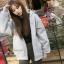เสื้อคลุมฮู้ด แจ็คเก็ตซิป แขนยาวกันหนาว สีเทา thumbnail 4