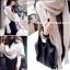 ผ้าพันคอไหมพรมสไตล์เกาหลี 2in1(เสื้อ&ผ้าพันคอ) thumbnail 2