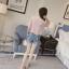 เสื้อแฟชั่นเกาหลี แขนสั้น คอวีแต่งลูกไม้ thumbnail 9