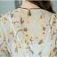 ชุดเดรสยาว ผ้าชีฟองลายดอก ต่อชายระบาย thumbnail 6