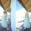 เดรสยาวชายทะเล ผ้าชีฟองพิมพ์ลาย สายคล้องคอโชว์ไหล่ thumbnail 5