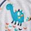 ชุดบอดี้สูท ลายไดโนเสาร์เทา แพค 3 ตัว Grey Dinosaur Sleepsuits Three Pack thumbnail 5