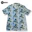 เสื้อเชิ๊ตฮาวาย สีฟ้าอ่อนตัดกับดอกไม้ขาว