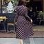 Maxi dress แขนยาวพิมพ์ลายโทนสีน้ำตาล thumbnail 2