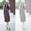 Maxi dress แขนยาวพิมพ์ลายโทนสีน้ำตาล thumbnail 3
