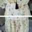 ชุดเดรสยาว ผ้าชีฟองลายดอก ต่อชายระบาย thumbnail 7