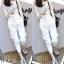 เซ็ตเสื้อแขนยาว+กางเกงขายาว-สีขาว thumbnail 1