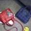 กระเป๋าสะพายข้างผู้หญิง Girl the grid black แถมหมี!! thumbnail 7