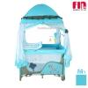[ฟ้า] เตียงนอนเด็ก เปลเพน Farlin Playpen Fin babies plus (CAR-P9032)