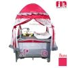 [แดง] เตียงนอนเด็ก เปลเพน Farlin Playpen Fin babies plus (CAR-P9032)