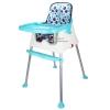 [สีฟ้า] เก้าอี้ทานข้าวสำหรับเด็ก3in1 พร้อมผ้ารองนั่ง (7เดือนขึ้นไป)