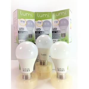 หลอด LED E27 9W วอร์มไวท์ Lumi