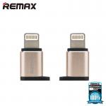 Remax หัวแปลงจาก Micro USB เป็น lightning RA-USB2 Micro USB / Apple (Gold)