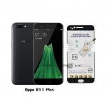 P-one ฟิล์มกระจก Oppo R11 Plus เต็มจอ สีดำ