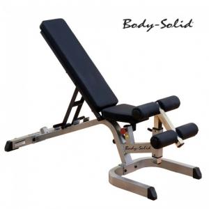 เก้าอี้เล่นดัมเบล : Body Solid Flat (Incline-Decline Bench) GFID71