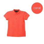เสื้อโปโลหญิงสีชมพูปะการัง