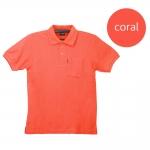 เสื้อโปโลชายสีชมพูปะการัง