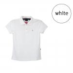 เสื้อโปโลหญิงสีขาว