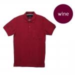 เสื้อโปโลชายสีไวน์แดง