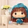 ตุ๊กตาผ้าห่ม เด็กหญิง ใส่หมวก สีฟ้า