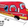หมอนข้างตุ๊กตา รถดับเพลิง Sesame Street สีแดง