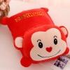 หมอนผ้าห่ม ลิง สีแดง ทรงแนวนอน