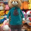 หมอนข้างผ้าห่ม น้องหมี ตัวใหญ่ยาว สีฟ้า