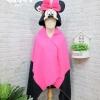 หมวกผ้าห่ม มินนี่เม้าส์ สีชมพู